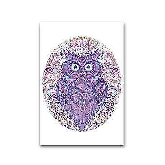 Owl Ornate Pattern Poster -Image by Shutterstock