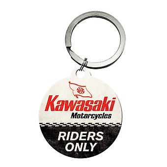 Kawasaki Motorcycle Riders Only Nostalgic Keyring - Cracker Filler Gift