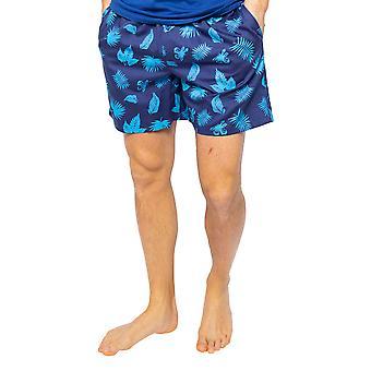 Cyberjammies Dylan 6511 Miehet&s Blue Mix Palm Leaf Tulosta Pyjama Lyhyt