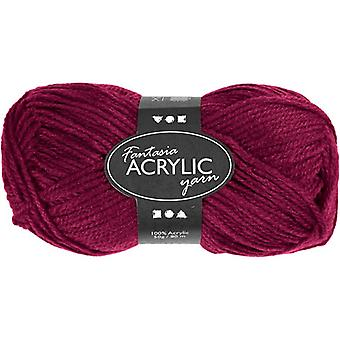 50g 3-Ply Fuchsia Pink Acrylic Yarn for Kids Knitting and Sewing Crafts