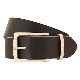 LLOYD Hombres's Cinturón Hombre Cinturón Buffalo Cuero Negro 3310