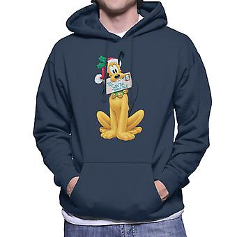 Disney Pluto Christmas Santa letter mænd ' s hættetrøje