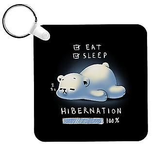 Süße Eisbär Winterschlaf Schlüsselanhänger