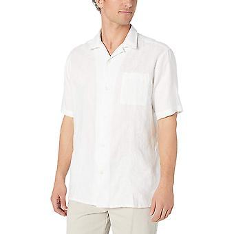 28 Palms Men's Relaxed-Fit Short-Sleeve 100% Linen Embroidered Guayabera Shir...