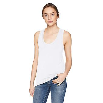 Brand - Daily Ritual Women's Jersey Racerback Tank Top, White, Small