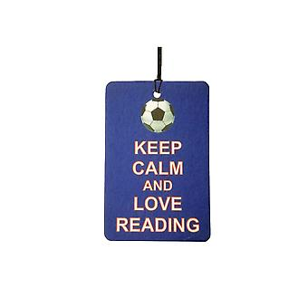 Keep Calm And Love Reading Car Air Freshener