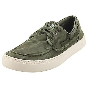 Natural World Old Quercia Mens Casual Trainers in Khaki