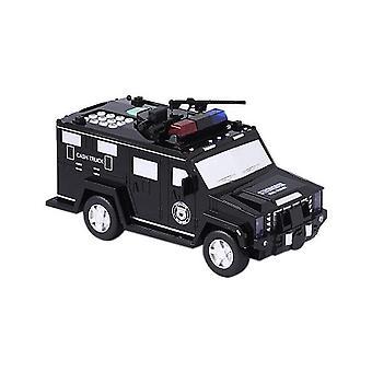 マネー輸送警察車お金を節約貯金銀行