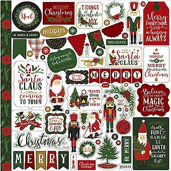 Echo Park Here Comes Santa Claus 12x12 Inch Element Sticker