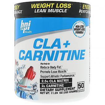 BPI Sports, CLA + Carnitine, Rainbow Ice, 11.29 oz (320 g)