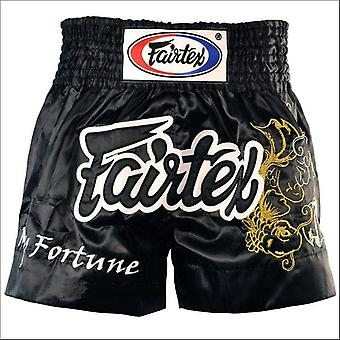 Fairtex My Fortune Muay Thai shortsit-musta