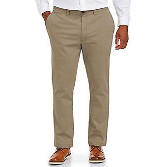 Essentials Herre Big-Tall Big & Tall Tapered-Fit Broken-In Stretch Chino Bukse Bukser, -Khaki, 46W x 30L