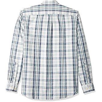Goodthreads الرجال & apos;ق القياسية صالح طويل الأكمام قميص مزدوج الوجه, ضوء الأزرق منقوشة, XXX-Large