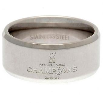 Liverpool Premier League Champions Band Ring Large