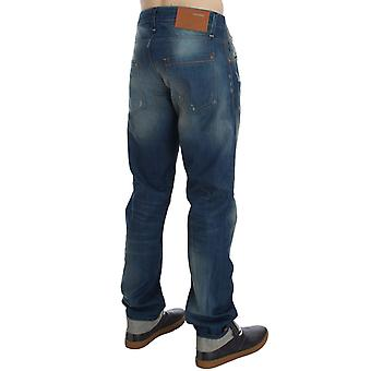 ACHT Blue Wash Denim Cotton Stretch Baggy Fit Jeans SIG30490-1