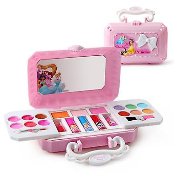 Disney Frozen Princess Elsa Beauty Mini Box Washable Real Children's Makeup Set Girls Toys