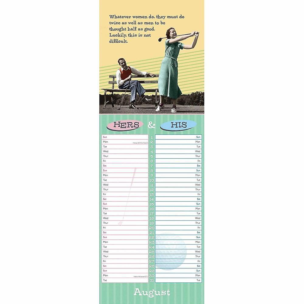 Otter House 2021 Slim Calendar-hers & His | Fruugo DE