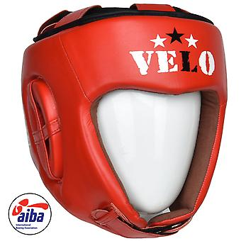 VELO AIBA Head Guards Red