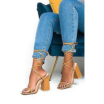 IKRUSH Womens Ballie Tie Up High Heels