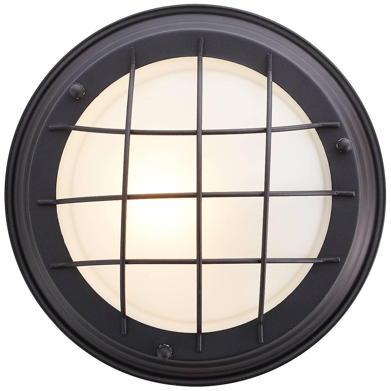 BRILLIANT Lampe Typhoon Wand- und Deckenleuchte 29cm schwarz | 1x A60, E27, 30W, geeignet für Normallampen (nicht enthalten) | Skala A++ bis E | Für LED-Leuchtmittel geeignet