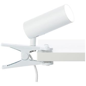 Luz BRILLANTE Lámpara de sujeción LED Soeren Led blanco mate 1x 4.5W LED integrado, (410lm, 4000K) Escalar A++ a E ? Luz