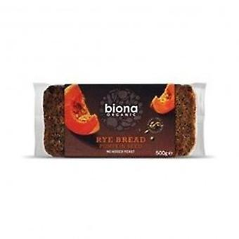 Biona - Org Rye Bread with Pumpkin 500g