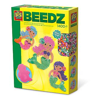 SES Creative Children's Beedz Mermaid 1400 Iron-on Beads Mosaic Set Mixed (6212)