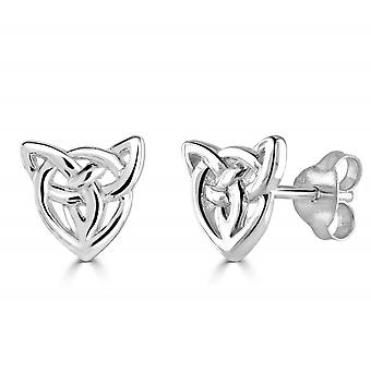 Heritage Sterling Silver Celtic Creatures Cat Face Stud Earrings 4256HP