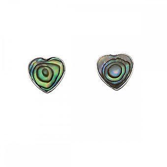 بدايات الجنيه الاسترليني الفضة E5010S Abalone شل القلب الأقراط