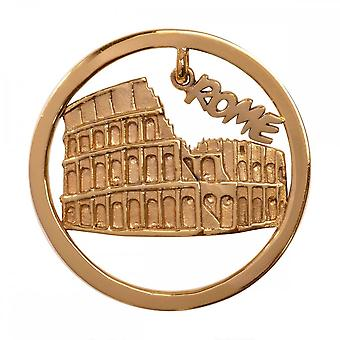 Nikki Lissoni Rome Medium Gold Plated Coin C1332GM