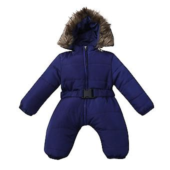 Winter Clothes Infant Baby Snowsuit Romper Jacket Hooded Jumpsuit Warm Thick