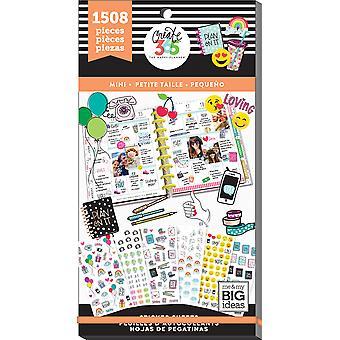 Onnellinen Planner tarra Value Pack-Mini kuvakkeet, 1508/Pkg