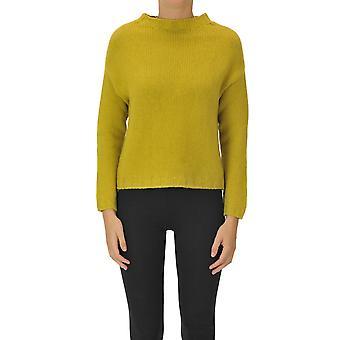 Aragona Ezgl157040 Women's Yellow Cashmere Sweater