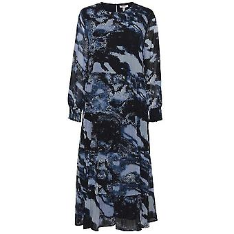 b.young Fenella Blue Patterned Maxi Dress