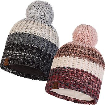 Buff Unisex Alina Chunky Knit Outdoor Walking Hiver Warm Beanie Bobble Hat