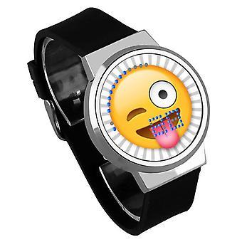 Vandtæt lysende LED Digital Touch Børn ur - Emoji #3