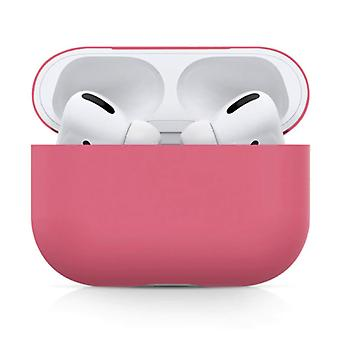 SIFREE Flexible Case for AirPods Pro - Silicone Skin AirPod Case Cover Smooth - Dark Pink