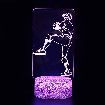 3D Touch Light Night 7 kleuren afstandsbediening - Honkbal #1027