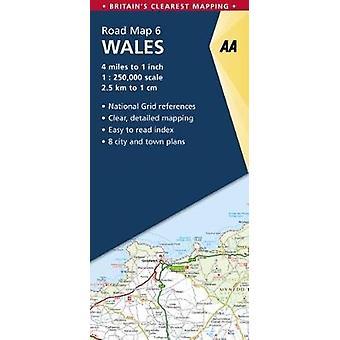 Straßenkarte Wales 1:250 000