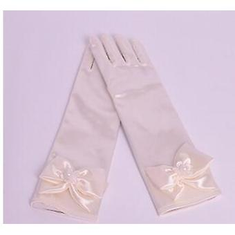 Children's Satin Elastic Gloves