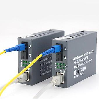 Optisk fiber transceiver fotoelektrisk omformer Rj45 kontakt en slutt