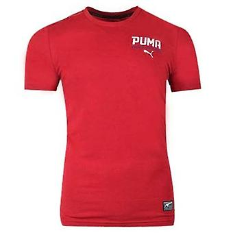 Puma Style Tec Original Sportswear Koszulka męska Czerwona Koszulka Top 590589 09 RW31