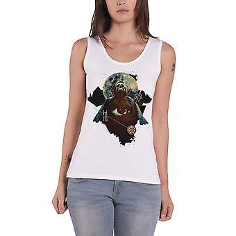 HIM Vest band logo Death Skull heartagram Official Womens New Skinny Fit Top