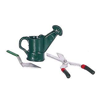 Panenky Dům Miniaturní 1:12 Zahradní nástroj Sada nůžky stěrka zalévání může