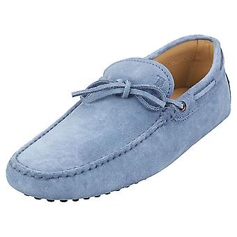 TOD'S Gommino Mens Loafer Shoes in Blue