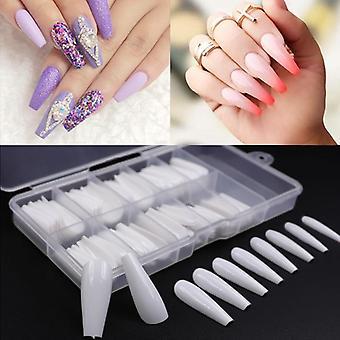 100pcs Fake Nail Artificial Press Clear/natural/white False  Nails