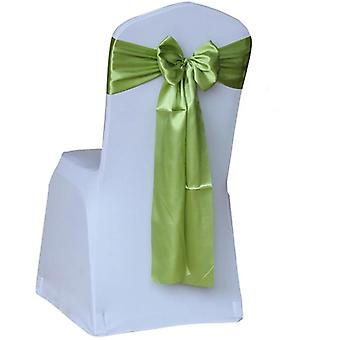 Satin Wedding, Sash Bow, Tie Satin Ribbon Chair Bands For Wedding Decoration