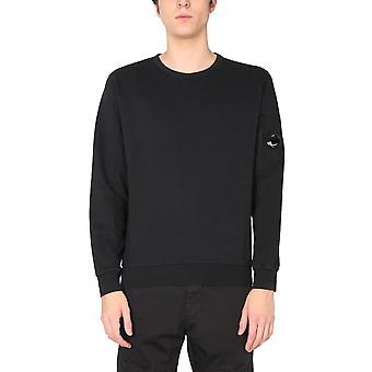 C.p. Företag 10cmss043a002246g999 Män's Svart Bomull Sweatshirt