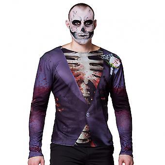 Shirt Gory Groom Men's Polyester Purple /White Size M/L