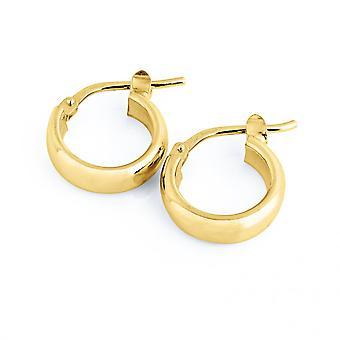 The Hoop Station Elba Huggies Gold Plated 10mm Hoop Earrings H232Y